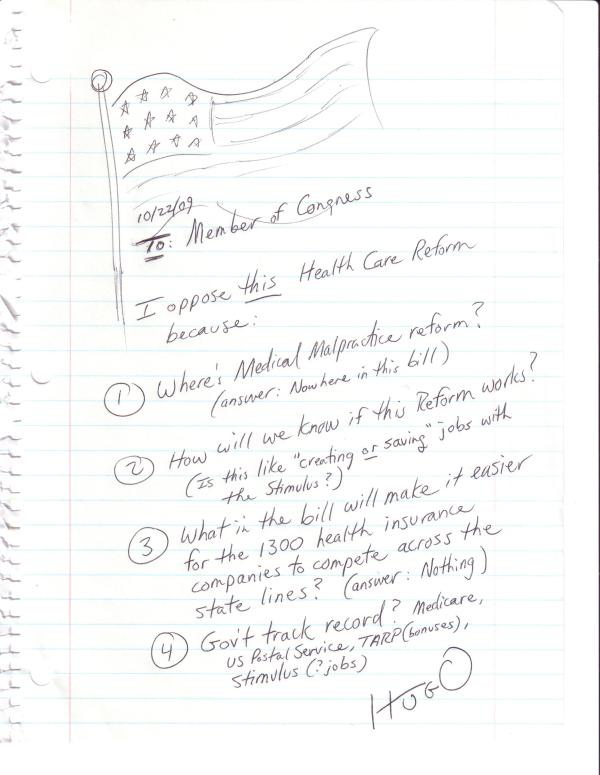 Hugo's fax to Congress #2